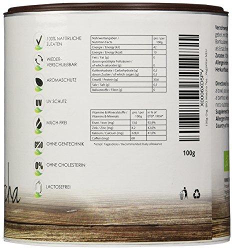 VegaVital Original Matcha Tee aus Japan, 100 Prozent Bio, 1er Pack (1 x 100 g)