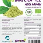 Vita2You Bio Matcha Tee 100g (Original japanischer Grüntee) im wiederverschließbaren Zippbeutel - Premium Qualität