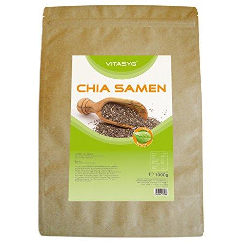 Vitasyg Chia Samen Premium im Frischhaltebeutel, 1er Pack (1 x 1 Kg)