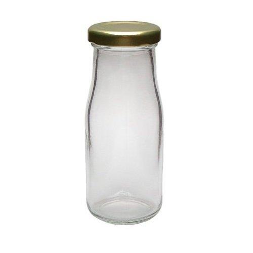 Viva-Haushaltswaren - 12 kleine Weithals-Glasflaschen / Saftflaschen 156ml inkl. einem Einfülltrichter Ø 7 cm
