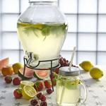 geschenkartikel-shopping Viererset Retro Vintage Trinkgläser mit Strohhalm 0,3 Liter