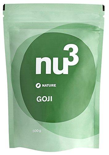 nu3 Premium Goji Beeren - Qualität in Deutschland geprüft und bestätigt, 500g