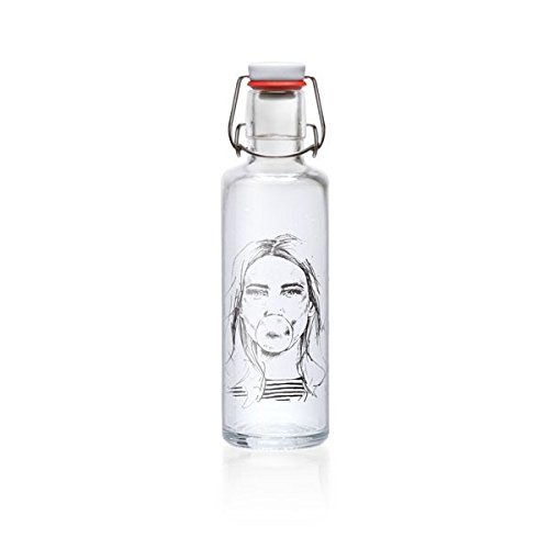 soulbottle 'Girl with chewing gum' - Trinkflasche aus Glas