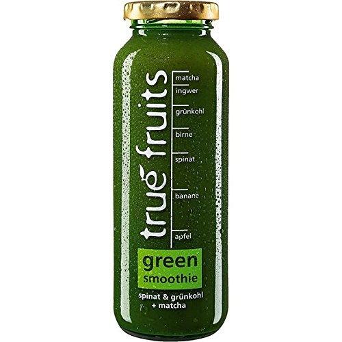 true fruits green smoothie spinat & grünkohl + matcha 8 x 250ml