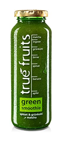 true fruits smoothie green spinat & grünkohl + matcha 3 x 250ml