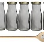 10 leere Glasflaschen mit TO Deckel 150ml EPI zum selbst Abfüllen Saucenflasche Weithalsflasche