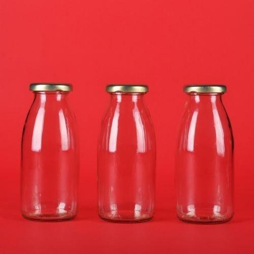 12 leere Glasflaschen 200ml kleine Saftflaschen Weithals Smoothie Flaschen von slkfactory