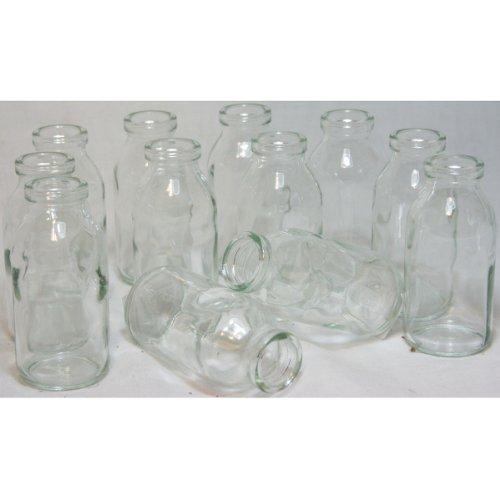"""12 x Glasfläschchen im Landhausstil H 10,5 cm, Vasen """"Designed by Annastore"""""""