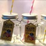 4er packung Einmachglas gläser - Maurer Krug Gläser / Tennessee glas Gläser / Jeremiah Unkraut Stil Trinken krüge mit stroh