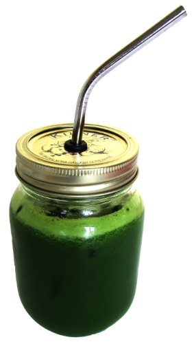 500ml Eco Mason Jars Kilner Stainless Steel Straw Whole Green Juice Smoothie Fruit Water Detox Raw Diets
