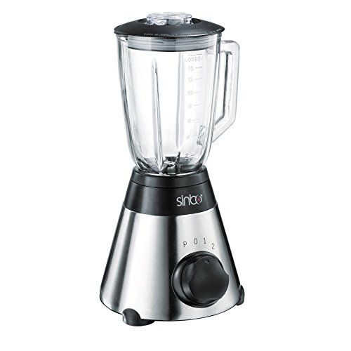 700Watt Glas Edelstahl Standmixer 1,7 Liter Smoothie Maker Ice Crusher Universal Küchen Mixer INKL. Kaffeemühle