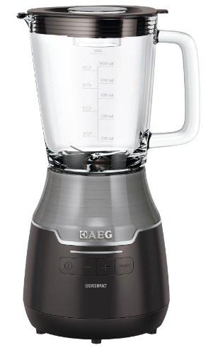 AEG SB 3400 Standmixer EasyCompact / Impuls-Taste für Ice Crush / Vortex-Effekt / Mini-Zerkleinerer / 1 Liter Glaskrug
