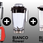 BIANCO forte (Rot / Red) + BIANCO flower + BIANCO square + Buch