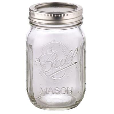 Ball® Mason Einmachgläser 490 ml x 6, Deckel mit Gummiring, luft-und wasserdicht