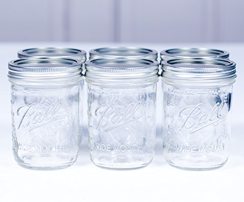 Ball Mason Jar 16oz Wide Mouth 6er/Set