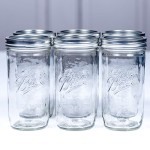 Ball Mason Jar 24oz Wide Mouth 6er/Set