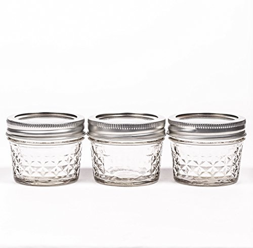 Ball Mason Quilted Crystal Jelly Jar 4oz/3er Set