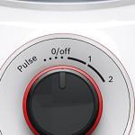Bosch MMB21P0R Standmixer SilentMixx 500 W, Edelstahl-Messer, weiß / rot