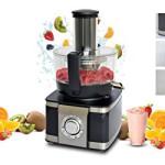 Food Processor Küchenmaschine mit Standmixer, Multi-Aufsatz und Entsafter 1100 Watt