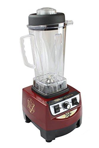 Hochleistungs Mixer VivoSana VS 5 rot + 1 Nussmilchbeutel - für Rohkost, Eis, Ice-Crusher. Leistung: 1.800 Watt , ca. 28.000 U/min, 2L Behälter BPA-FREI, Drehregler für stufenlose Geschwindigkeit, Schnellstart-Taste, solide, dauerhafte Konstruktion, haltbare mechanische Bedienelemente, sehr gute Messer, beste cremige Smoothie Ergebnisse f. optimale Chlorophyll Versorgung. Der VS5 Blender mit hoher Kraft & Geschwindigkeit - empfohlen von Prof. Gerd Unterweger, konzipiert in Österreich