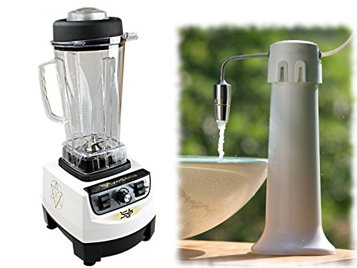 Hochleistungs-Mixer VivoSana VS 5 weiß + Okato Übertischfilter mit Aquadea ToneOne Wasserwirbler Silber Bergkristall: 3er Bundle: Mixer, Übertischfilter, Wasserwirbler - sparen Sie 10% gegenüber Einzelkauf !