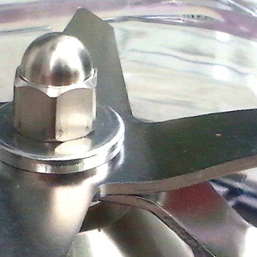 Hochleistungs-Mixer VivoSana VS5 (schwarz) + 1 zusätzlicher Mixbecher Profi Stand-Mixer für Rohkost, Eis, Suppen, Ice-Crusher. Leistung: 1.800 Watt , ca. 28.000 U/min, 2L Behälter BPA-FREI, Drehregler für stufenlose Geschwindigkeit, Schnellstart-Taste, solide, dauerhafte Konstruktion, sehr gute Messer, beste cremige Smoothie Ergebnisse für optimale Chlorophyll Versorgung. Der VS5 Blender mit hoher Kraft & Geschwindigkeit gewährleistet das Herauslösen von wichtigen Stoffen wie das Chlorophyll