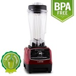 Klarstein Herakles 2G-R Profi Standmixer Power Mixer Green Smoothie Maker (1200W, 2 Liter Küchenmixer, BPA-frei, 28.000 U/min) rot