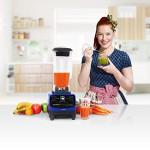 Klarstein Herakles 3G | Power Standmixer / Blender / Smoothie Maker / professioneller Hochleistungsmixer / Universal Küchenmixer | 1500 Watt leistungsstark für bis zu 40.000 U/min | inkl. 2 Liter Krug aus BPA-freiem Kunststoff | 6 Klingen aus rostfreiem Stahl | ideal für Zubereitung von (grünen) Smoothies, Suppen, Eiscreme oder zum Ice Crushing, Zerkleinern und Mahlen | Farbe: Blau