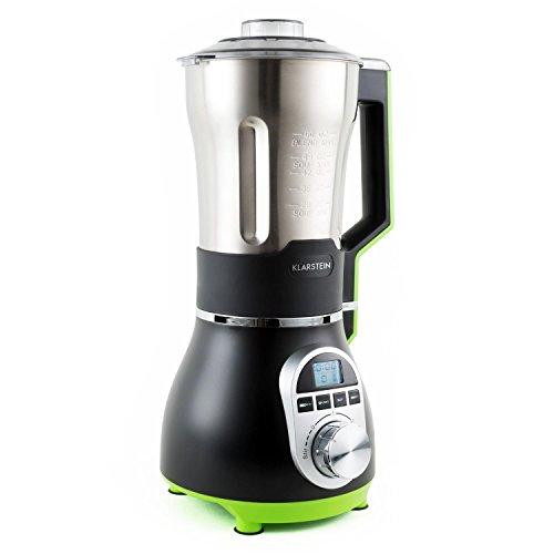 Klarstein Soup-Chef Edelstahl Standmixer Suppenbereiter Suppenkocher für Suppen, Smoothies, Soßen und Pürees (900W Heizmodul, 3 Heizstufen, 1,75 Liter, 450-Watt-Mixer-Modul, 4 Geschwindigkeiten, integr. Digital-Timer) grün