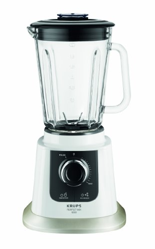 Krups KB5031 Standmixer Perfect Mix 9000 (850 Watt, 1,5 L Volumen) weiß / grau / edelstahl gebürstet