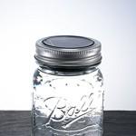 Mason Jar Solarlicht- Stylische Retro Einmachglas mit LED Lichtern. Solar Tischleuchte, Original Ball Mason Glas