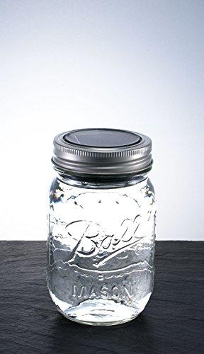 mason jar solarlicht stylische retro einmachglas mit led lichtern solar tischleuchte original. Black Bedroom Furniture Sets. Home Design Ideas