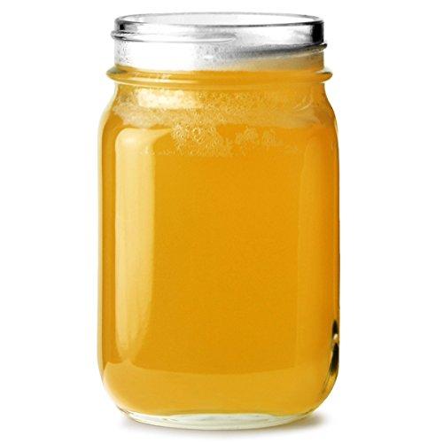 Mason Jar Trinken Trinkgläser 16,5 Unzen / 0.5 Liter - Packung mit 4