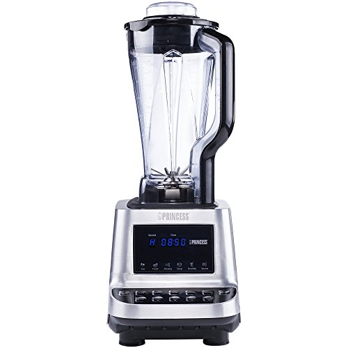 Princess 219000 - 2.0 Liter Professioneller Standmixer/ Smoothie Mixer - 1600 Watt, Ice Crush, 6 Edelstahlmesser