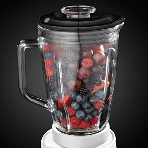 Russell Hobbs 18995-56 Aura Glas-Standmixer mit 0,8 PS Power-Motor 750 W, bis zu 26.000 U/min, Impuls-/Ice-Crush-Funktion