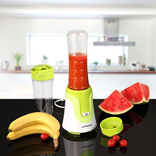 Standmixer Haushaltsmixer Mixer Haushalts-Mixer mit 300 Watt in Orange oder Grün mit 2 Mixbechern inkl. Deckel