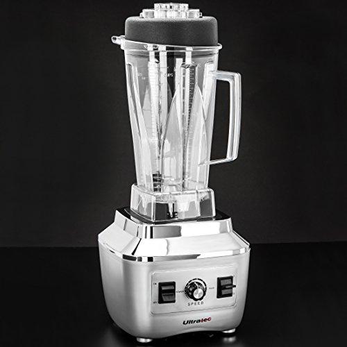Ultratec Power Standmixer  2.0 Liter / BPA-FREI / 1.500 Watt / 28.000 U/min. / 6 Edelstahlmesser / inkl. Stößel & Smoothie Rezeptbuch