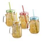 Privatglas Mason Jar Trinkgläser mit Gratis Gravur Ihres Namens oder Ihres Wunschtextes im 4er Set