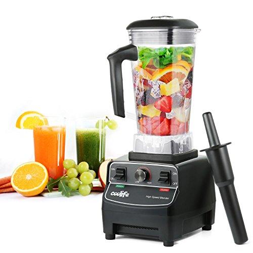 Standmixer, Coolife Smoothie-Mixer Mix mit 23000 U/min, 1650W, 6 Klingen Edelstahlmesser 2 Liter für Smoothies Obst Gemüse und Milchshakes etc