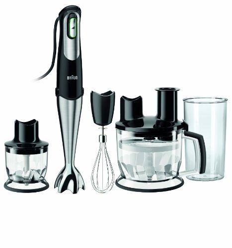 Braun MultiQuick 7 MQ 785 Pâtisserie Plus Stabmixer, 750 W, Küchenmaschinen-Aufsatz (1.500 ml),Edelstahl-Schneebesen, EasyClick System, PowerBell Technologie