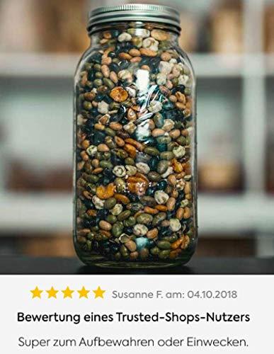 KoRo | Ball Mason Jar Wide Mouth | 1892 ml | 64 oz | Gläser Optimal Zum Aufbewahren | Vorratshaltung | Vorteilspreis