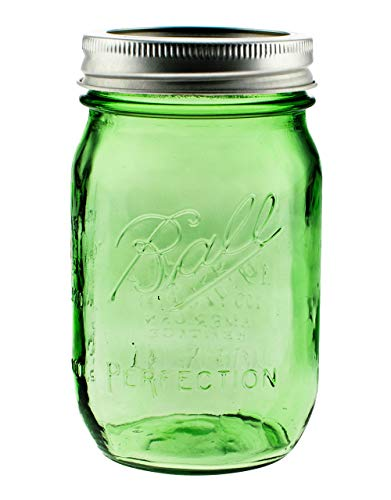 red-bottle Mason Ball 6er Set Heritage Jar Green Limited Edition 470ml (16oz) inkl. Deckel