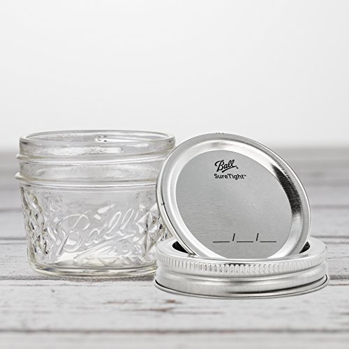 Ball Mason Quilted Crystal Jelly Jar 4oz/6er Set